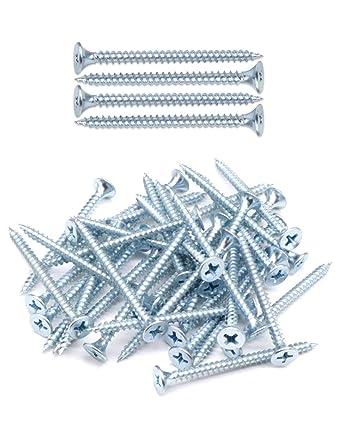 Zinc Coated IMScrews 200pcs #6x3//4 Flat Head Phillips Drywall Screws Fine Thread Sharp Point Wood Screw Carbon Steel 1022A