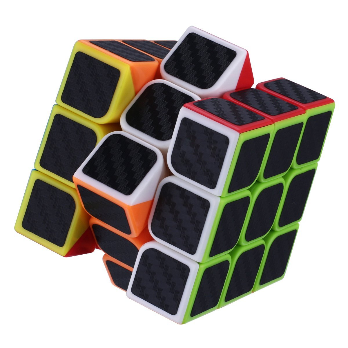 Dreampark 3x3x3 Speed Cube Carbon Fiber Sticker for Smooth Magic Cube Puzzles