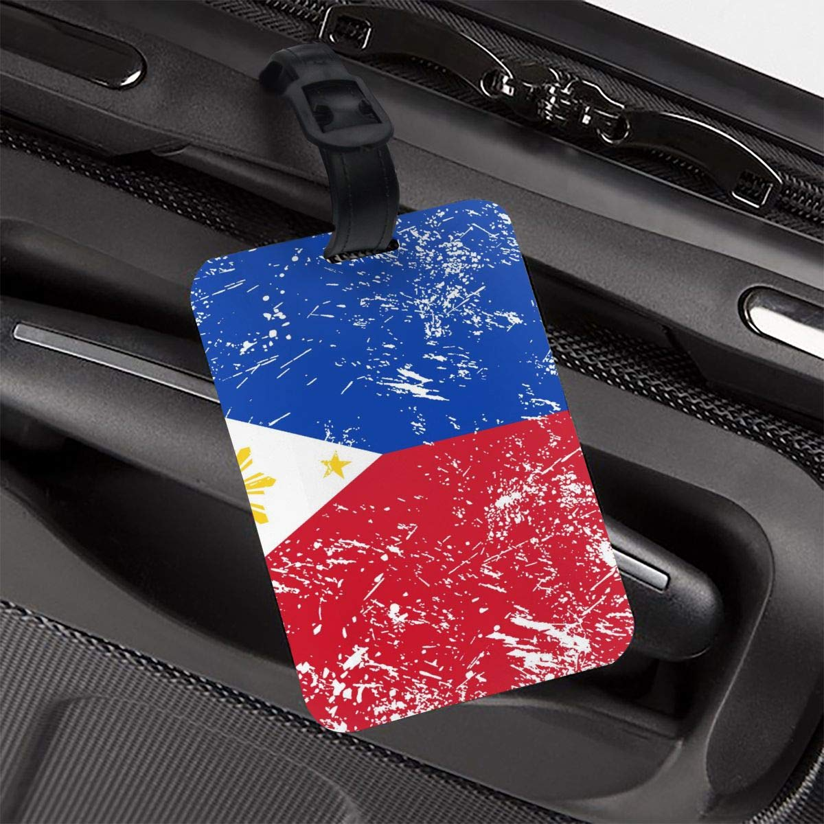 NB UUD Philippines Retro Flag Travel Luggage Tag Fashionable Employees Card Luggage Tag Holders Travel ID Identification Labels for Baggage Suitcases Bags