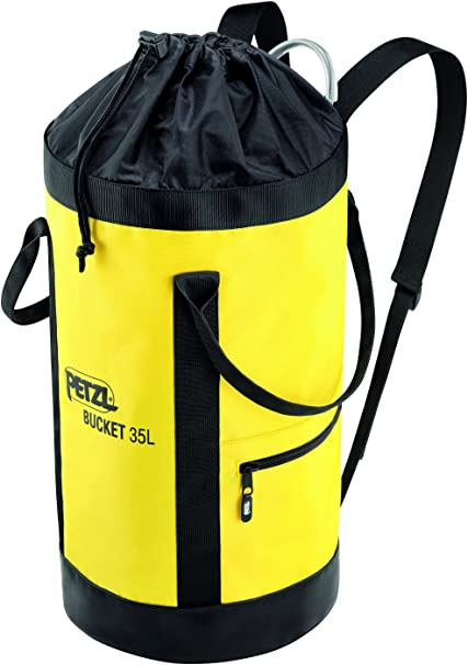 fabric pack remains upright bag fabric self-supporting BUCKET 35L PETZL