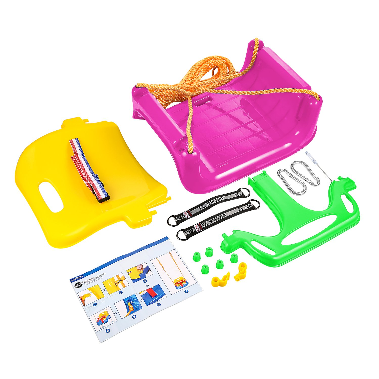 Amazon.com: Flyerstoy 3 In 1 Swing Seat,Toddler Secure Detachable ...