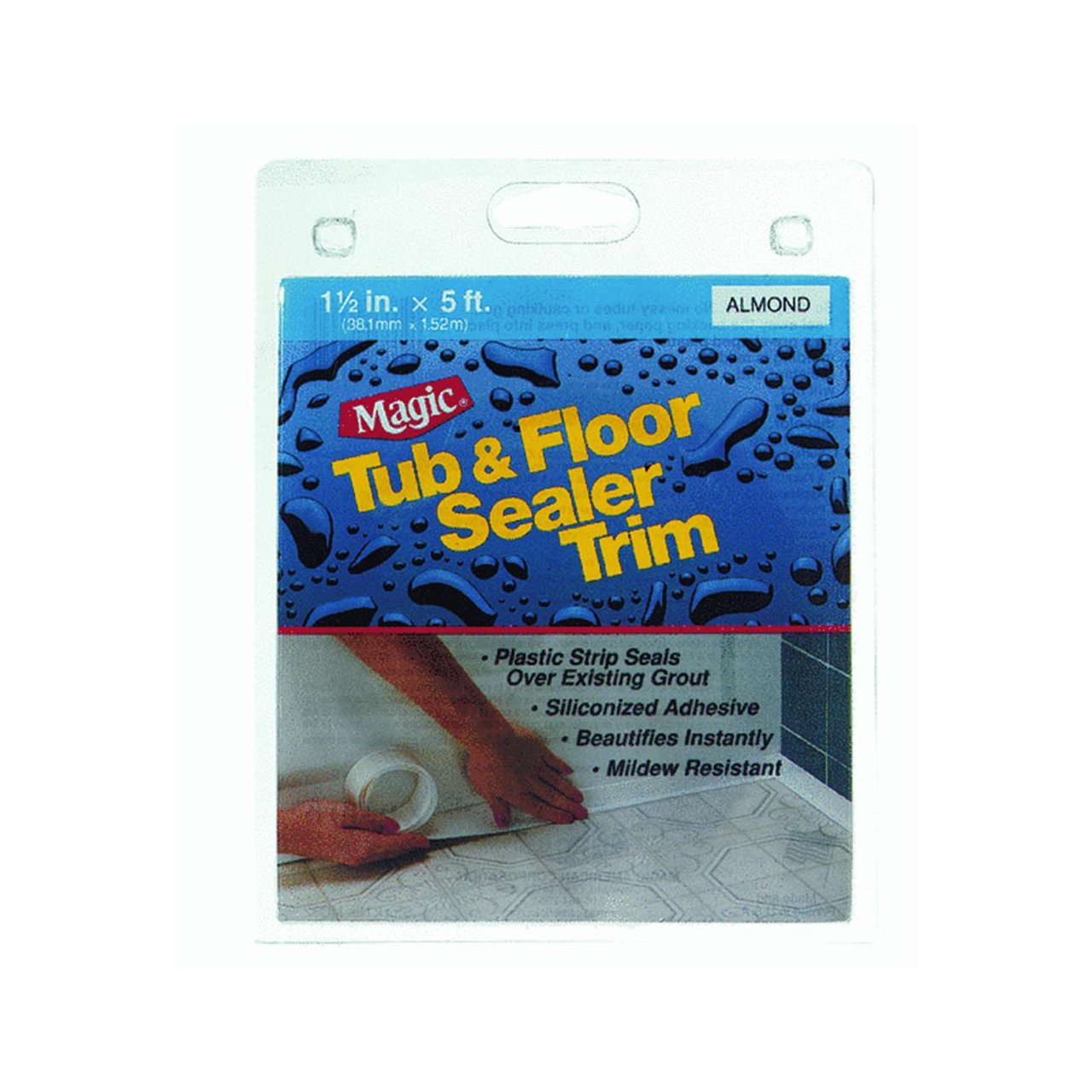 Magic American MC326T Floor and Tub Peel and Stick Caulk, Biscuit ...