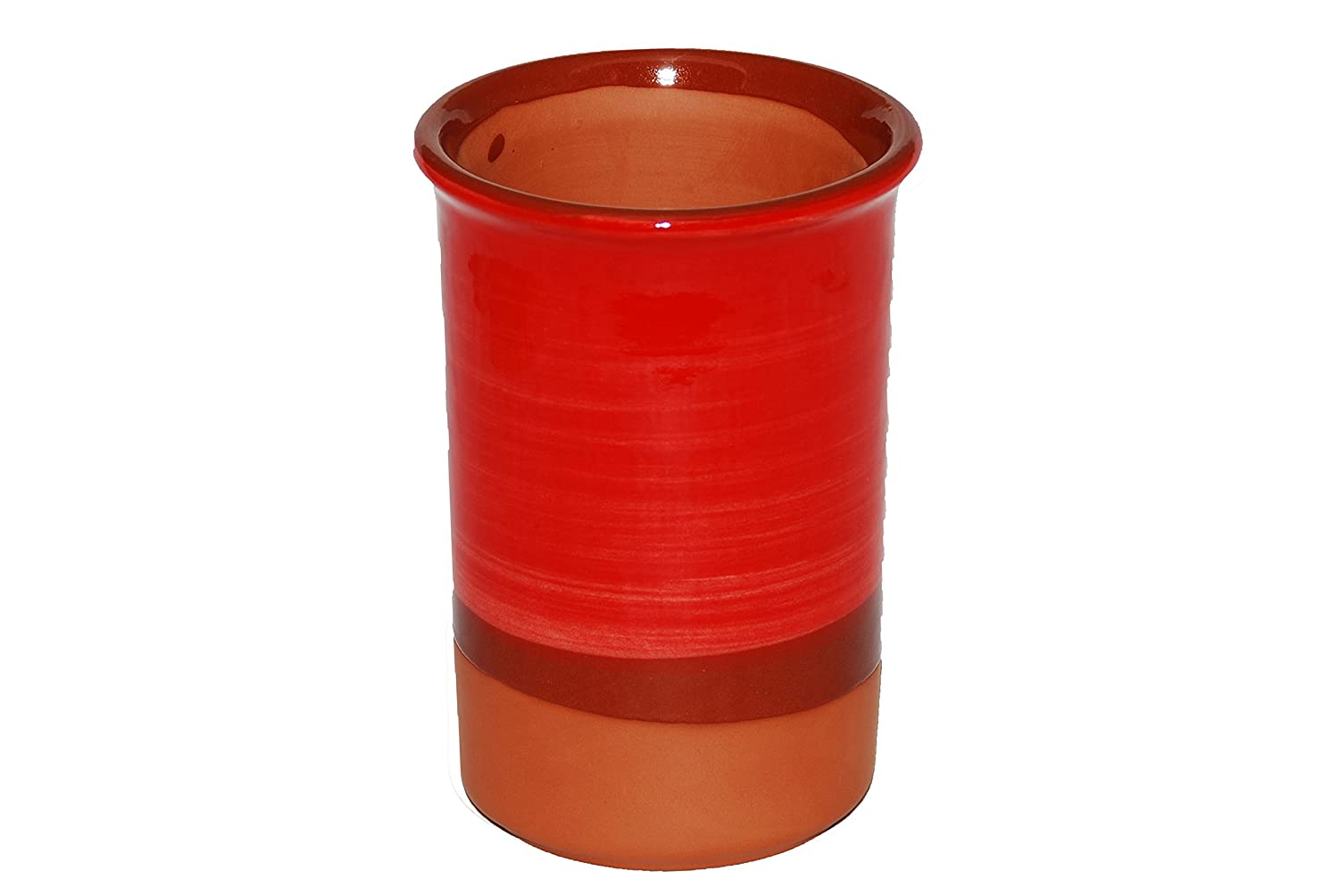 Red Spanish Style Ceramic Wine Cooler