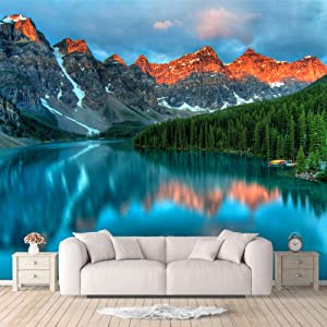 IDEA4WALL Wall Murals for Bedroom Beautiful Nature Norway Natural Landscape Large Removable Wallpaper Peel and Stick Wall Stickers - 100x144 inches