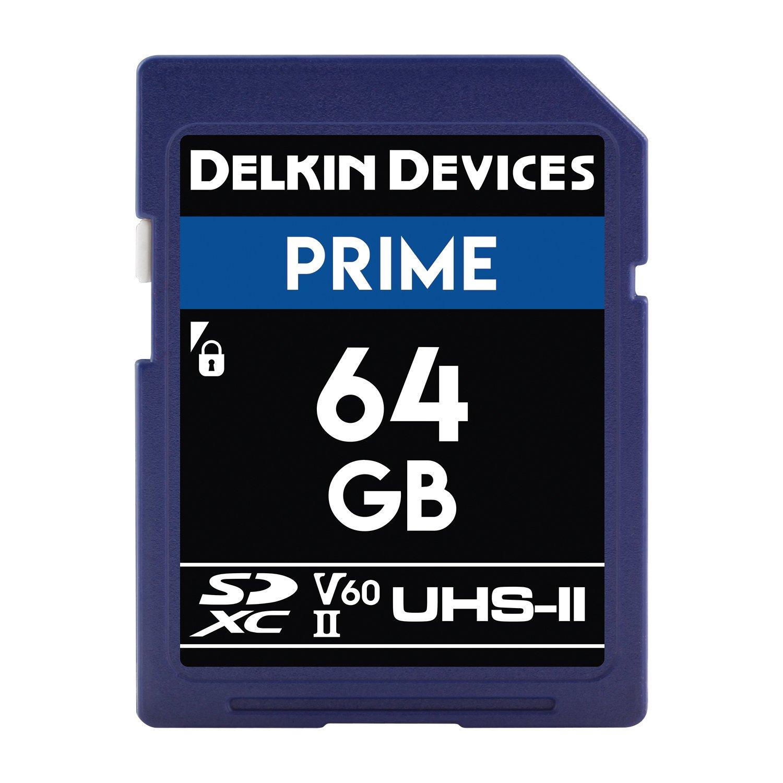 Delkin DDSDB1900128 128GB Prime SDXC 1900X UHS-II (U3/V60) Memory Card