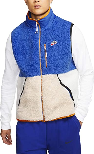 mentiroso azúcar sobras  Nike CD3142-480 - Chaleco de forro polar para hombre, talla 2XL: Amazon.es:  Ropa y accesorios