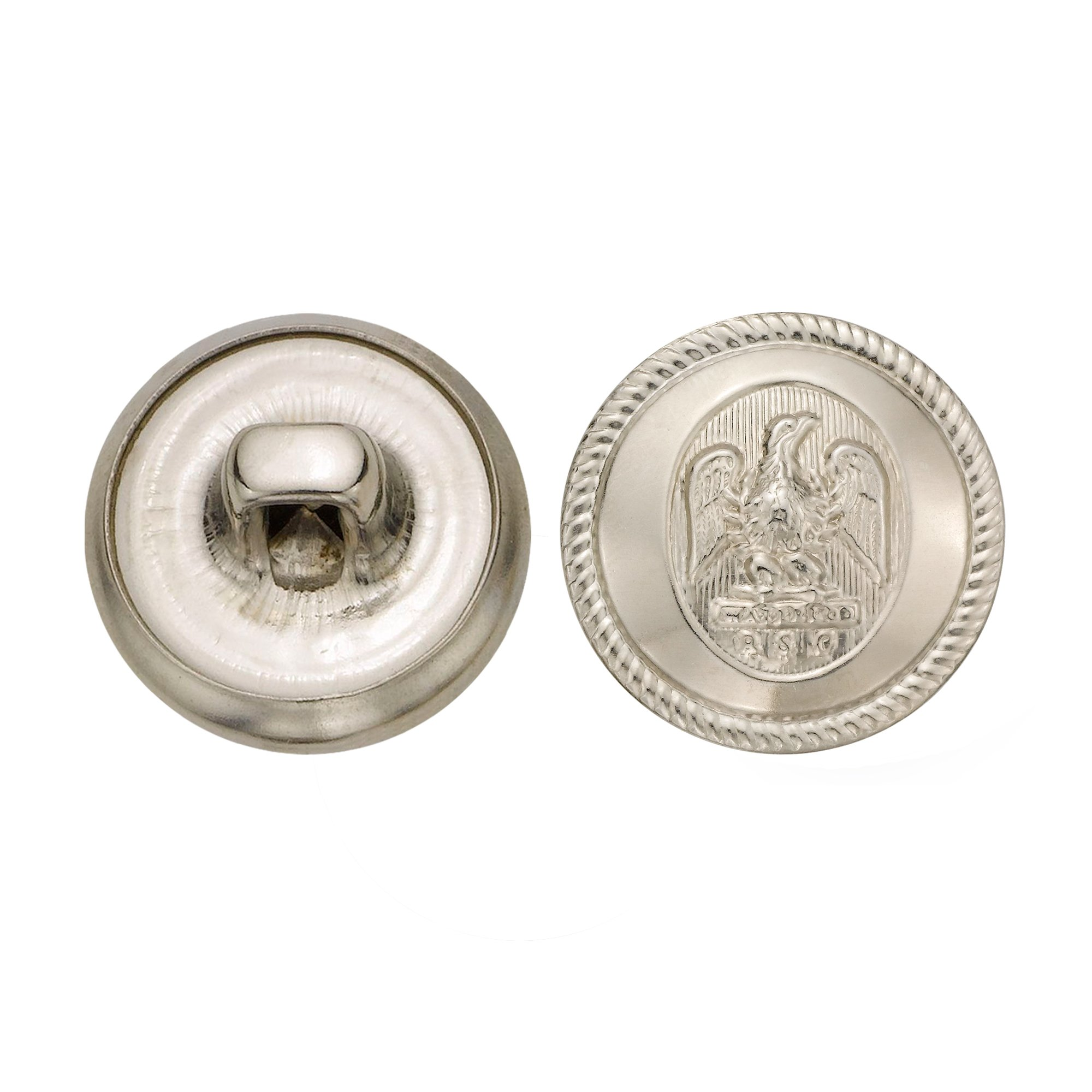 C&C Metal Products 5064 Rope Rim Usa Eagle Metal Button, Size 24 Ligne, Nickel, 72-Pack by C&C Metal Products Corp (Image #1)