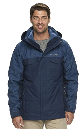 Columbia Men's Timberline 3-in-1 Hooded Jacket - X-Large- Navy ...