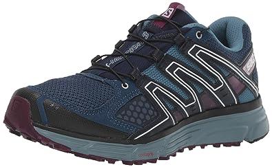 Salomon Damen Trailrunning Schuhe, X MISSION 3 W, Farbe: BlauViolett (Sargasso SeaBluestoneDark Purple), Größe: 41 13