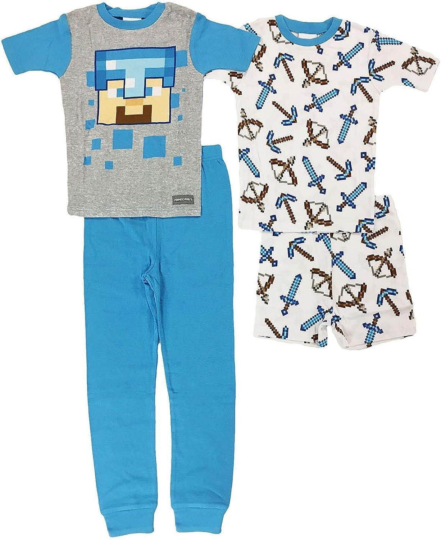 Minecraft Boys 4-Piece Cotton Pajama Set