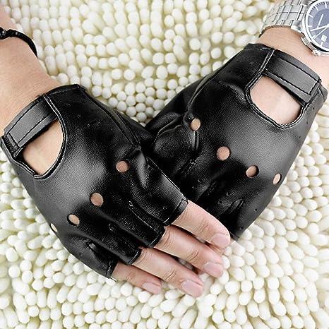 Nankod Gants mi-doigts antidérapants en similicuir pour hommes femmes,  mitaines de poignet Moto Hip-Hop pour le cyclisme en plein air  Amazon.fr   Hygiène et ... c8ef963aa16