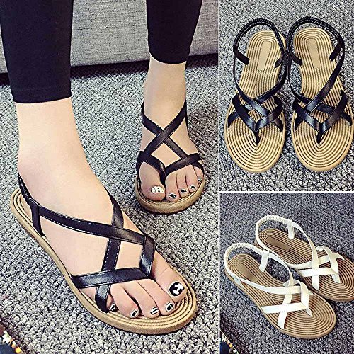 Women Sexy Leisure Fashion Flat Women Outdoor Shoes Summer White Bandage Lady Shoes Sandals Putars FBnIwHqx5H