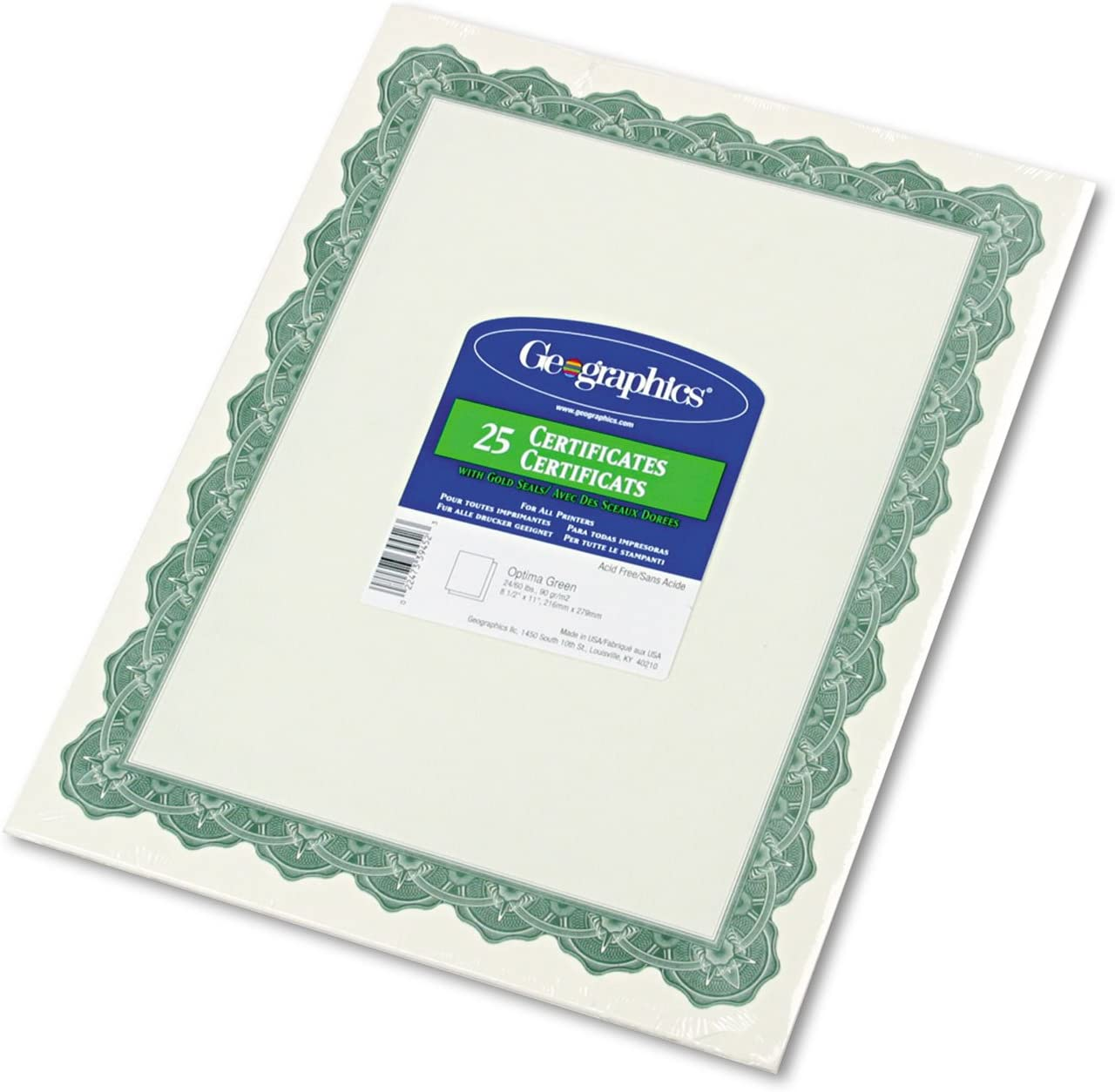 Green PADI PIC Positive Identification Card//Paper PIC 10036