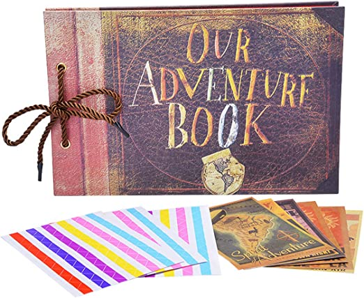 Vintage Photo Album Our Adventure Book Memory DIY Anniversary Scrapbook