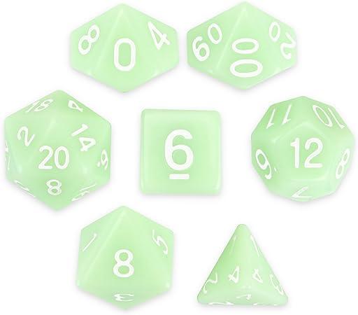 Wiz Dice Ghost Jade Juego de 7 Dados poliédricos de Color Verde Menta con Caja Transparente: Amazon.es: Juguetes y juegos