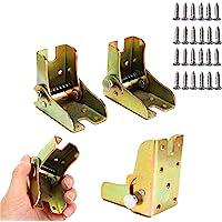 4 soportes de extensión de mesa plegables para patas de trabajo de bricolaje plegables con bisagras de bloqueo de color…