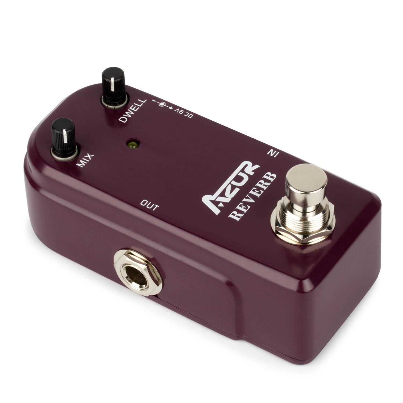 AZOR Reverb Guitar Effect Pedal True Bypass Aluminium-alloy case by AZOR