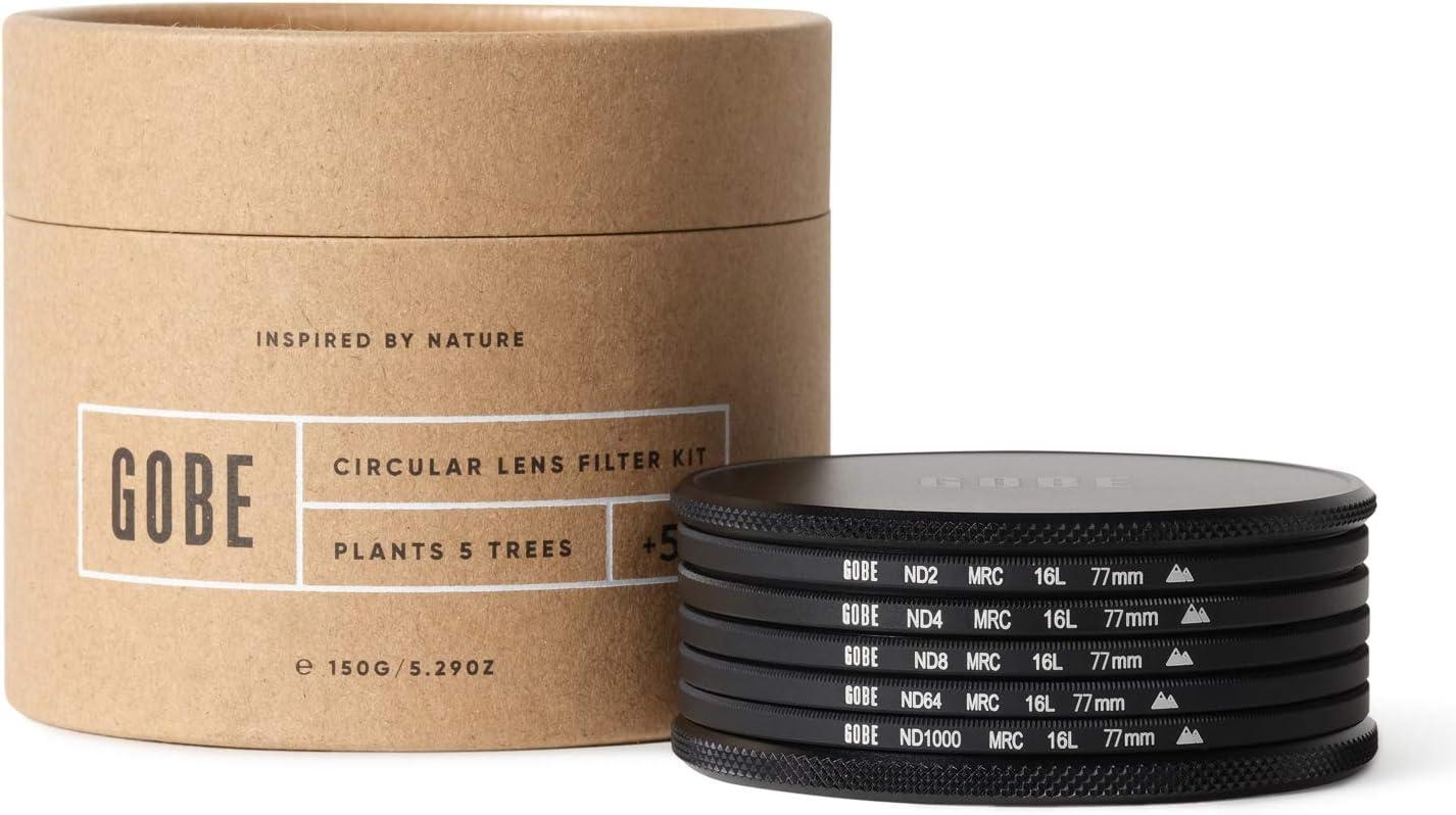 Gobe 62mm ND2 2Peak ND4 ND8 ND64 ND1000 Lens Filter Kit