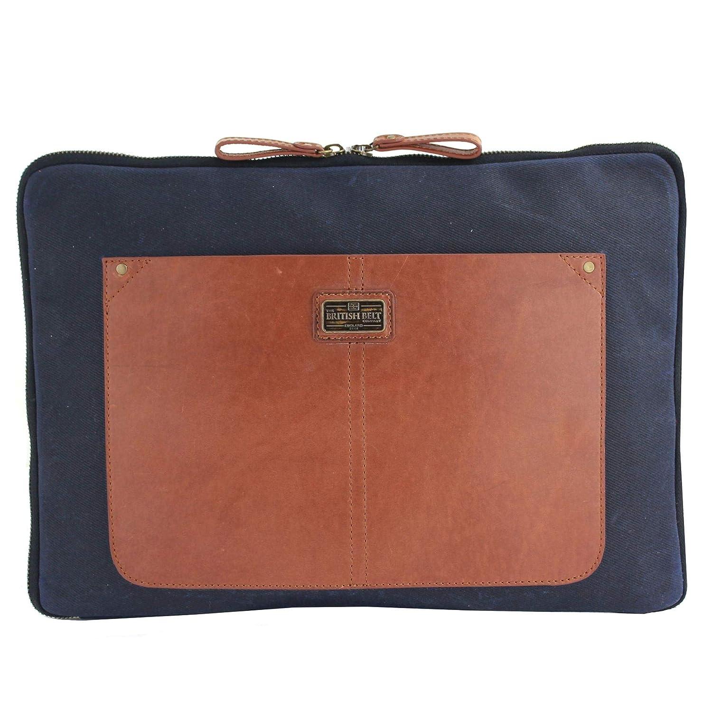 Cartella portadocumenti in pelle Langdale 100% compatibile per portatile 35, 6cm tracolla staccabile The British Belt Company