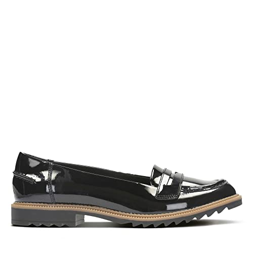 5aee3da0075 Clarks Women's Loafer Flats Shoes Griffin Milly Black: Amazon.co.uk ...
