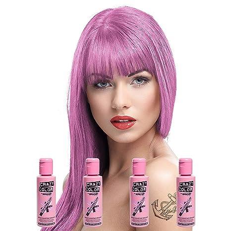 Coloration permanente rose pour cheveux
