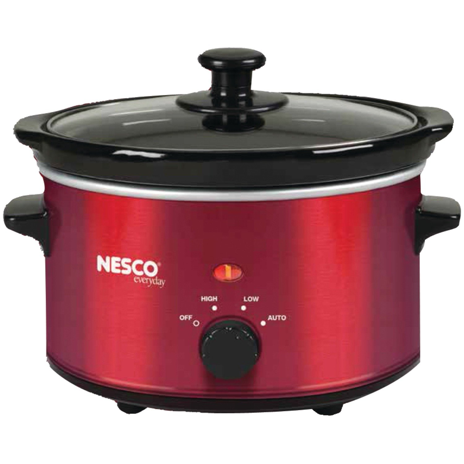 Nesco SC-150R Oval Slow Cooker, 1.5-Quart, Red