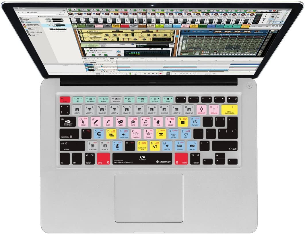 Propellerhead Reason Keyboard Cover for MacBook Pro & iMac Wireless Keyboard | Edit Faster with Editors Keys