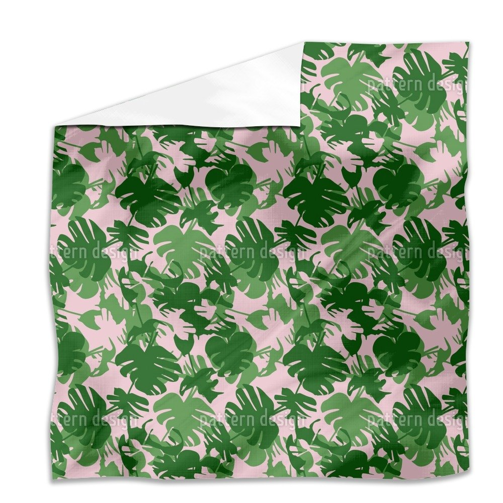 Monstera Deliciosa Flat Sheet: King Luxury Microfiber, Soft, Breathable