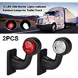 myzoom LED Side Marker Light 2X 12//24V Trailer Truck Van Caravan Side Stalk Outline Lamp Elbow Indicator