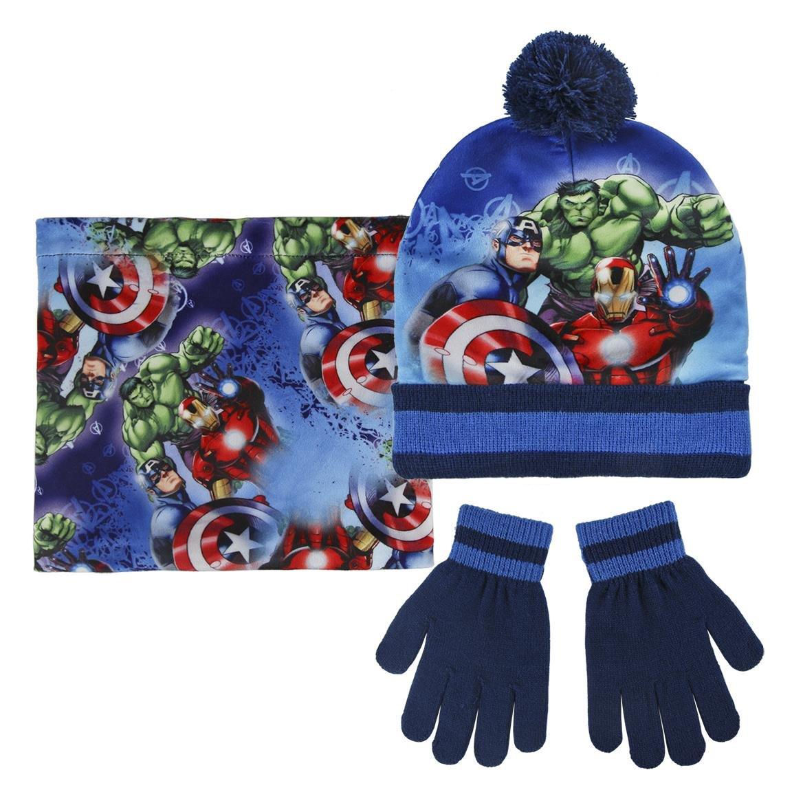 ef2c59519 Marvel Avengers 2200-2542 Childrens Winter Set, Beanie Hat With ...