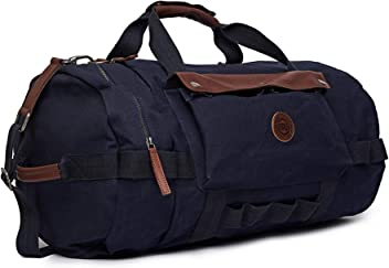 37a56905f Royal Enfield BGSS18001 Canvas/Leather Flying Flea Duffle Bag (Blue, Large)