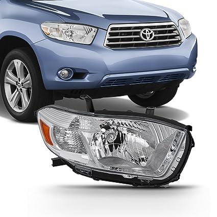 For 2008 2009 2010 Toyota Highlander Base/Base Premium/Limited/SE Headlight  Passenger Right Side