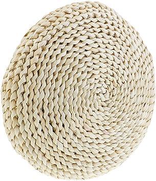 design japonais Zafu en paille Kugelsimse Yoga Coussin de m/éditation 40*40 rembourrage ouate de soie