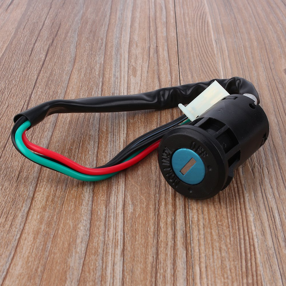 interruptor de encendido impermeable Interruptor de encendido de 4 pines para motor de motocicleta interruptor de encendido universal macho 4 cables