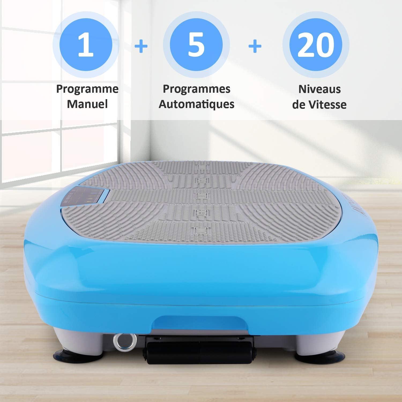 ANCHEER Vibrationsplatte Ganzk/örper Trainingsger/ät max.120kg 3D Vibrationsger/ät mit Gro/ßer Rutschsicherer Trainingsfl/äche Innovativer Vibration Fernbedienung LCD Display Trainingsb/änder