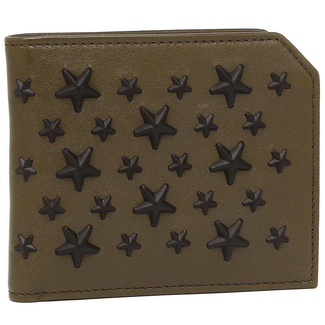 [ジミーチュウ] 二つ折り財布 メンズ JIMMY CHOO ALBANY OLIVE BLACK オリーブ ブラック [並行輸入品] B07BD5S297