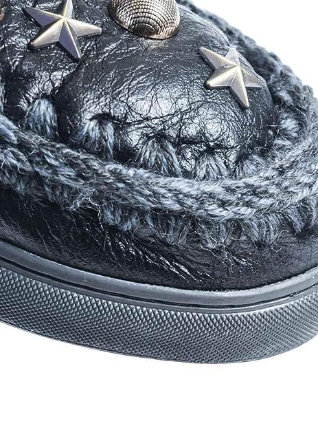 a49f2fbe221 Botas Mou Eskimo Sneaker Studs   Stars Negro Mujer 39 WXBLK  Amazon ...