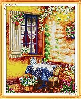 "Joy Sunday Cross Stitch Kits 14CT Counted Bird House 21.6/""x16.1/"" or 55cmx41cm"