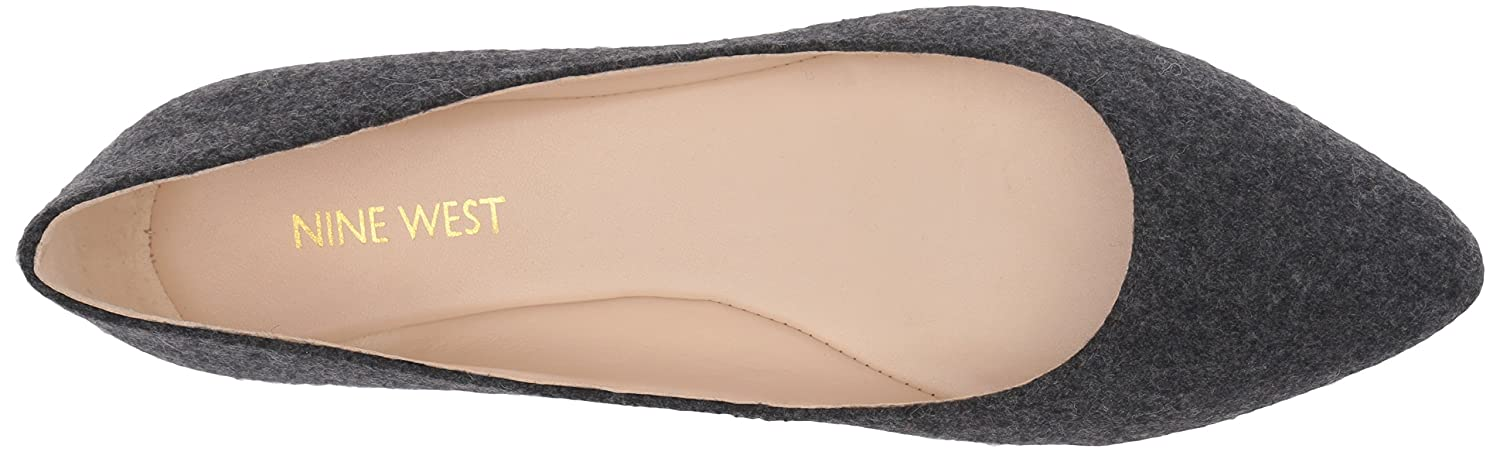 Nine West Womens Speakup Fabric Pointed Toe Flat