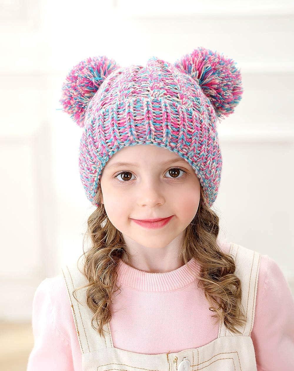 Flower Decal Crochet Beanie with Ear Flaps Little Girl Birthday