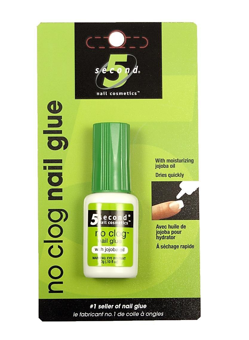 5 Second Nail No-clog Nail Glue, 3-Gram (Pack of 4) by 5 Second Nail