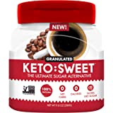 Keto:Sweet Ultimate Sugar Alternative, 100% Natural Erythritol - Granulated in Pourable, Resealable Jar (9.8 Oz; Pack of 1),