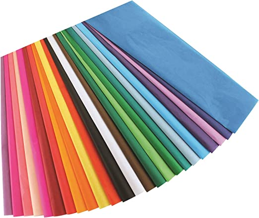 Luxury Tissue Paper Pack 4 Large Sheets Choice of Colour//Design *Free UK P+P*