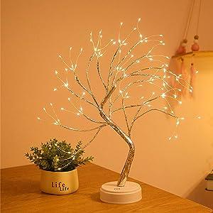 Ailevant Celtic Serenity Fairy Light Spirit Tree, Tabletop Lighted Bonsai Tree Lamp, Led Tree Branch Lamp, Light Up Tree Lamp for Indoor Decorative