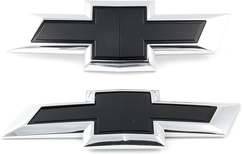 Chevy Bowtie Flames Chrome Vinyl Emblem car truck hood//rear//trunk Decal Sticker