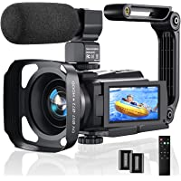 4K Video Camera Camcorder, 48MP 60FPS YouTube Camera WiFi IR Night Version Vlogging Camera 3.0 Inch Touch Screen 16X…