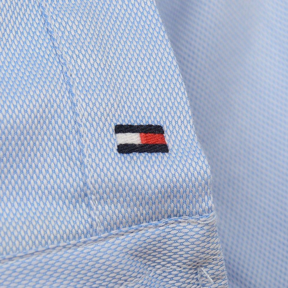 29e0134c6 Tommy Hilfiger Luxury Two Tone Dobby Woven Shirt in Blue: Amazon.co.uk:  Clothing