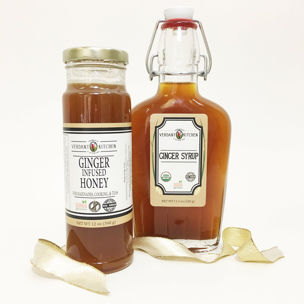 Ginger Syrup and Ginger Infused Honey Gift Set - Oprah's Favorite Things