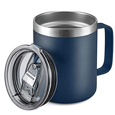 Double Wall 12 0z Mugs Navy /& Gold New