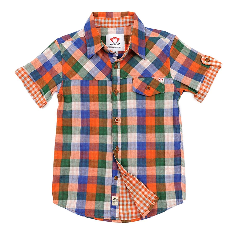 Appaman Little Boys Harvey Plaid Shirt 7, Red